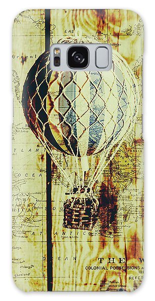 No-one Galaxy Case - Mapping A Hot Air Balloon by Jorgo Photography - Wall Art Gallery