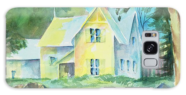 Marblehead Cottage Galaxy Case by Lee Beuther