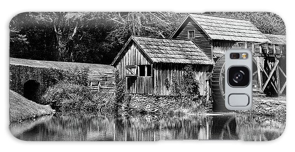 Marby Mill In Black And White Galaxy Case by Paul Ward