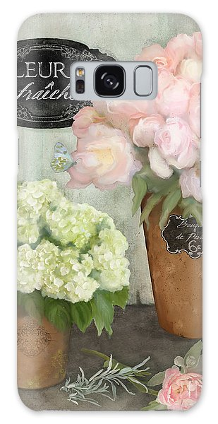 Marche Aux Fleurs 2 - Peonies N Hydrangeas Galaxy Case
