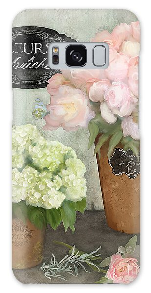 Marche Aux Fleurs 2 - Peonies N Hydrangeas Galaxy Case by Audrey Jeanne Roberts