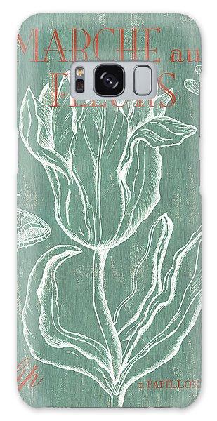 Scientific Illustration Galaxy Case - Marche Aux Fleurs by Debbie DeWitt