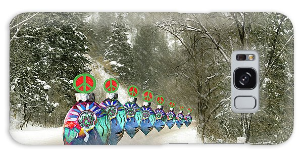 Galaxy Case featuring the photograph Marching Peace Ornaments by Lou Novick