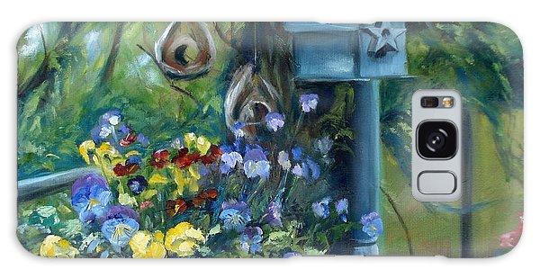 Marcia's Garden Galaxy Case by Donna Tuten