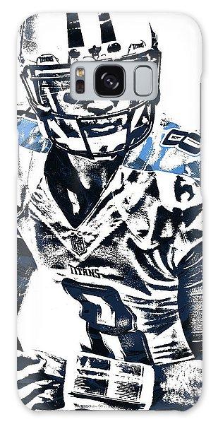 Marcus Mariota Tennessee Titans Pixel Art 3 Galaxy Case by Joe Hamilton