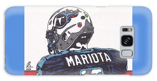 Marcus Mariota Titans 2 Galaxy Case by Jeremiah Colley