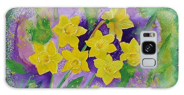 Mardi Gras Daffodils Galaxy Case by Margaret Bobb