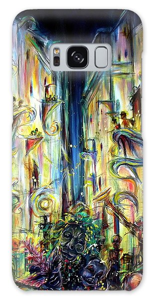Mardi Gras Galaxy Case by Heather Calderon
