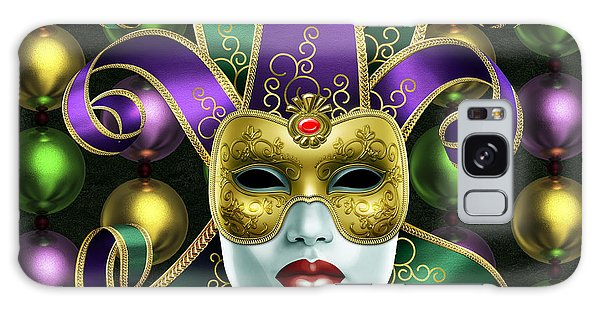 Mardi Gras Mask And Beads Galaxy Case by Gary Crockett