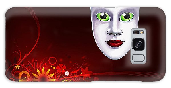 Mardi Gras Mask Red Vines Galaxy Case by Gary Crockett