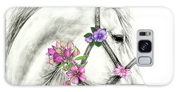 Mare With Flowers Galaxy Case by Heidi Kriel
