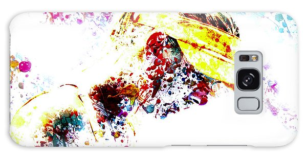 Maria Sharapova Paint Splatter 4p                 Galaxy Case by Brian Reaves