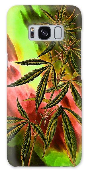 Marijuana Cannabis Plant Galaxy Case
