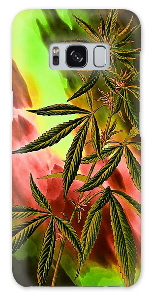 Marijuana Cannabis Plant Galaxy Case