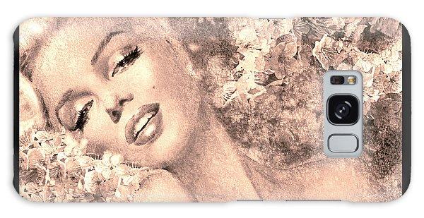Marilyn Cherry Blossom, B Sepia Galaxy Case
