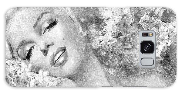 Marilyn Cherry Blossom Bw Galaxy Case