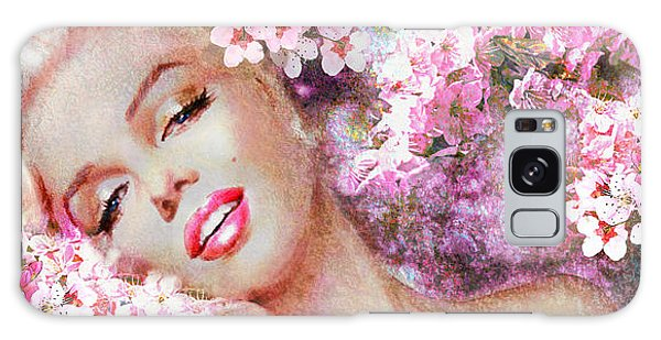 Marilyn Cherry Blossoms Pink Galaxy Case
