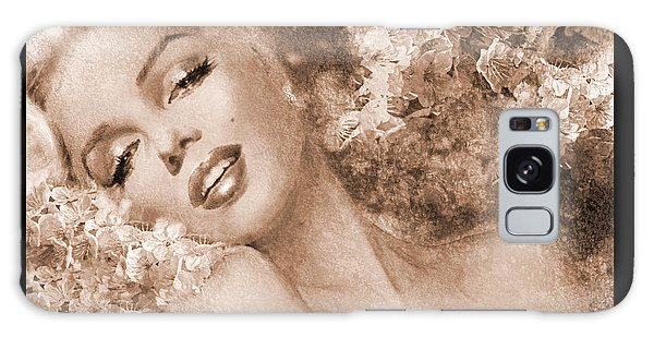 Marilyn Cherry Blossoms, Sepia Galaxy Case
