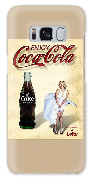 Galaxy Case featuring the photograph Marilyn Coca Cola Girl 3 by James Sage