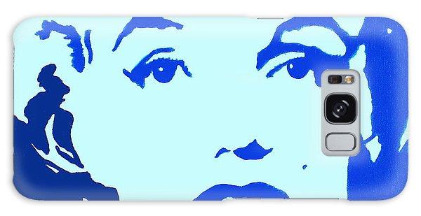 Marilyn Monroe Blue Pop Art Portrait Galaxy Case