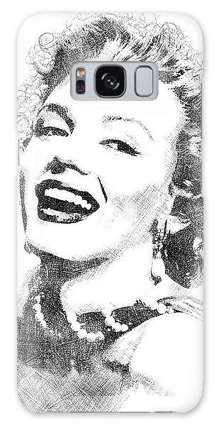 Marilyn Monroe Bw Portrait Galaxy Case by Mihaela Pater