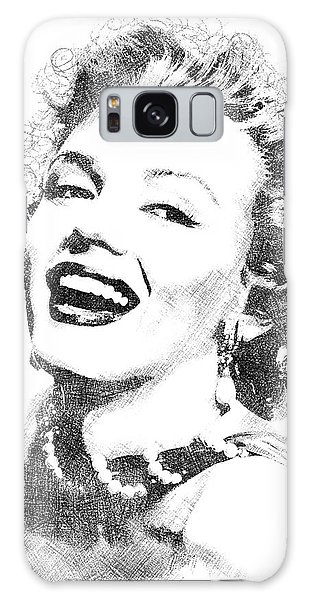 Marilyn Monroe Bw Portrait Galaxy Case by Mihaela Pater