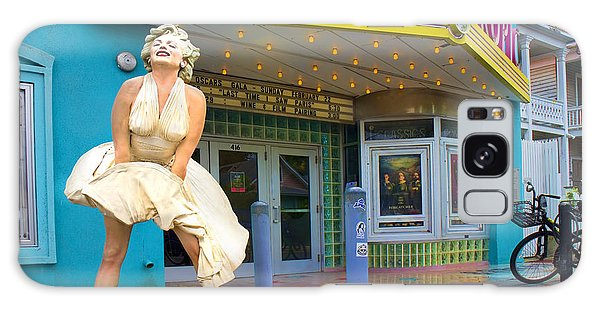 Marilyn Monroe In Front Of Tropic Theatre In Key West Galaxy Case by David Smith