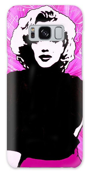 Galaxy Case featuring the painting Marilyn Monroe In Hot Pink by Bob Baker
