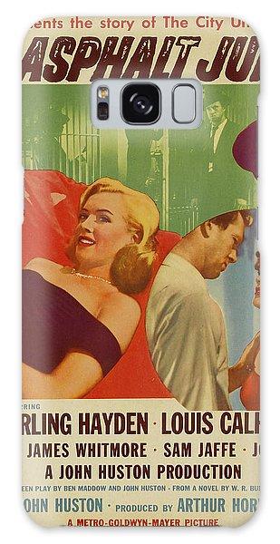 Marilyn Monroe In The Asphalt Jungle Movie Poster Galaxy Case