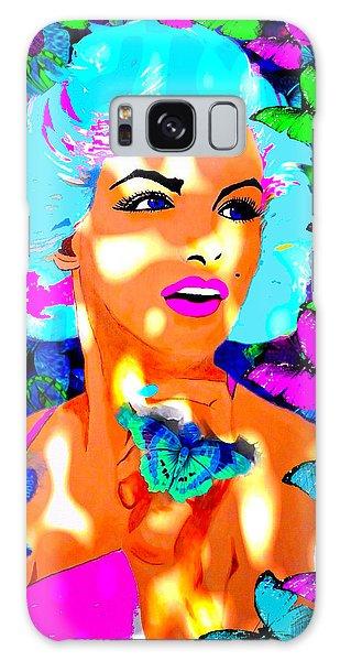 Marilyn Monroe Light And Butterflies Galaxy Case