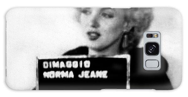 Marilyn Monroe Mugshot In Black And White Galaxy Case