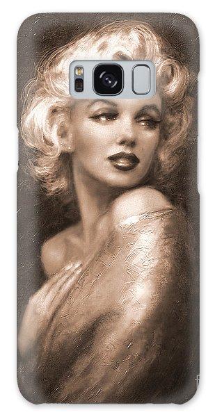 Marilyn Ww Sepia Galaxy Case