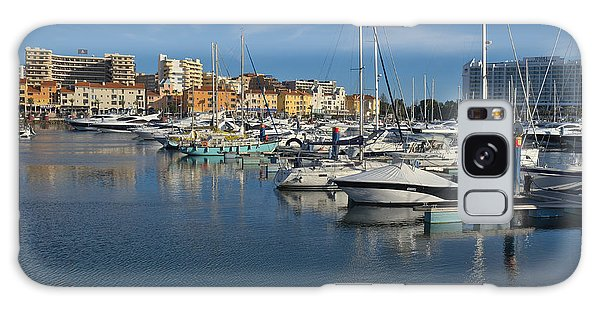 Marina Of Vilamoura At Afternoon Galaxy Case by Angelo DeVal