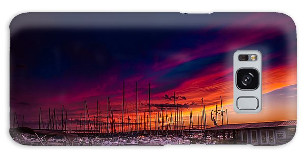 Marina Sunset Galaxy Case