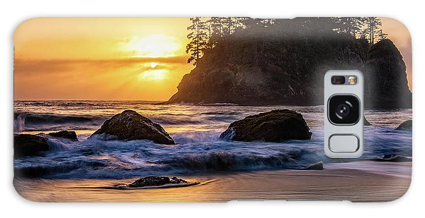 Marine Layer Sunset At Trinidad, California Galaxy Case