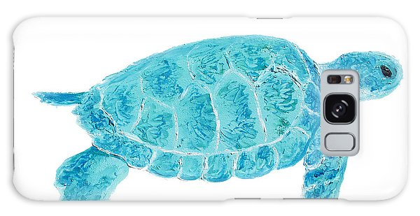 Marine Turtle Painting On White Galaxy Case