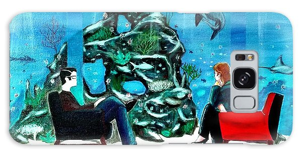 Marinelife Observing Couple Sitting In Chairs Galaxy Case