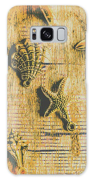 Maritime Sea Scroll Galaxy Case