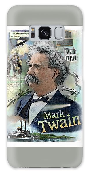 Galaxy Case featuring the mixed media Mark Twain by John Dyess