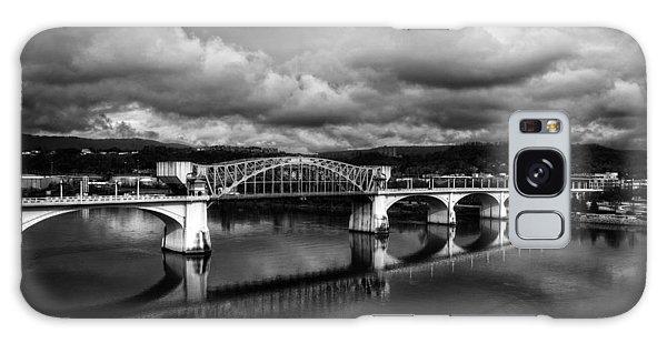 Market Street Bridge In Black And White Galaxy Case