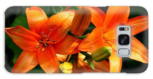 Marmalade Lilies Galaxy Case by David Dunham