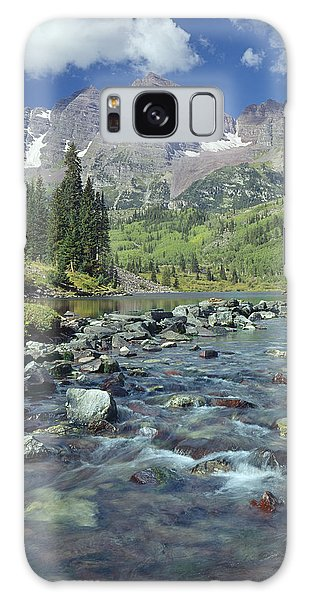 210404-maroon Bells And Creek  Galaxy Case