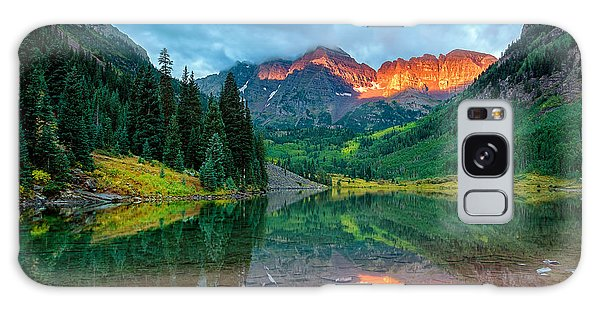 Maroon Bells Sunrise Galaxy Case