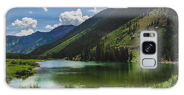 Maroon Lake Panorama Galaxy Case