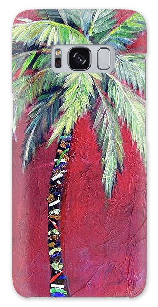 Maroon Palm Tree Galaxy Case