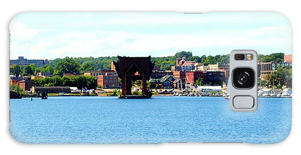 Marquette Michigan Harbor One Galaxy Case by Phil Perkins