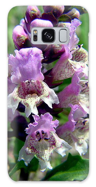 Marsh Flower Galaxy Case
