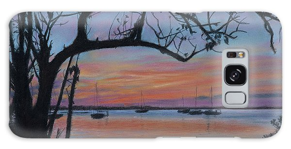 Marsh Harbour At Sunset Galaxy Case
