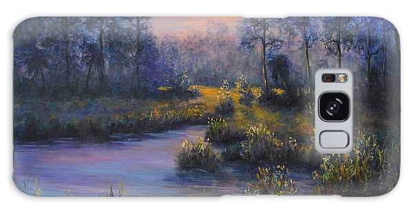 Marsh Sunset Nature Wetland Trees Print Of Panting Galaxy Case