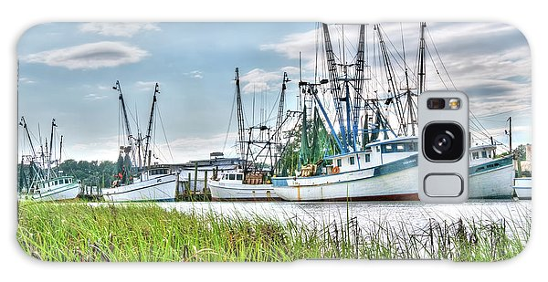 Marsh View Shrimp Boats Galaxy Case
